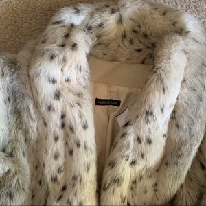 Vintage STYLE VI LTD faux Lynx fur coat//80s glam